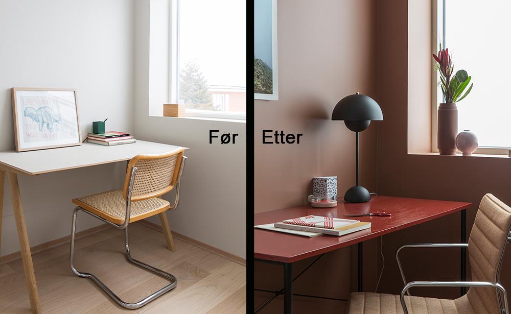 Farger og inspirasjon til hjemmekontoret