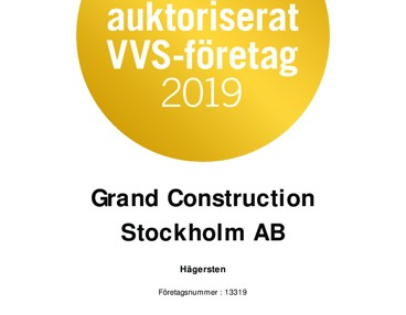Grand construction  stockholm abs bild på Grand Construction Stockholm AB