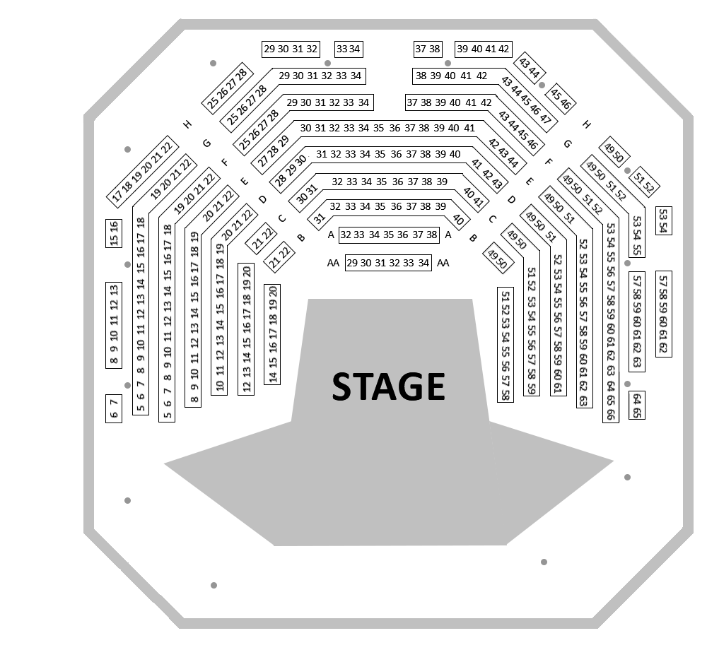 Bridge House Theatre Seating Plan Design Plans