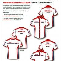 Merchandising Honda HRC