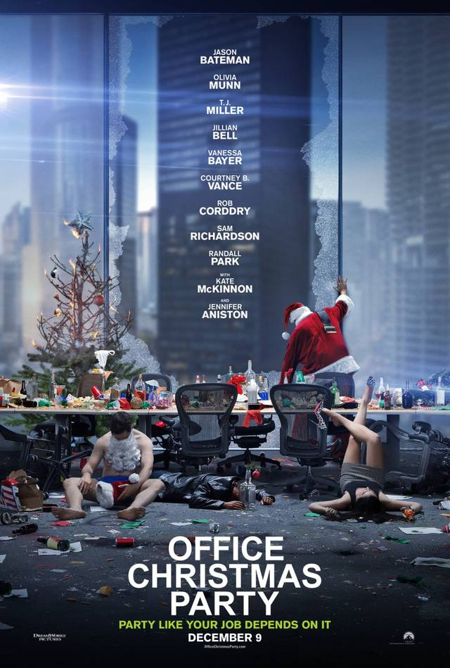 Office Christmas Party Teaser Poster USA