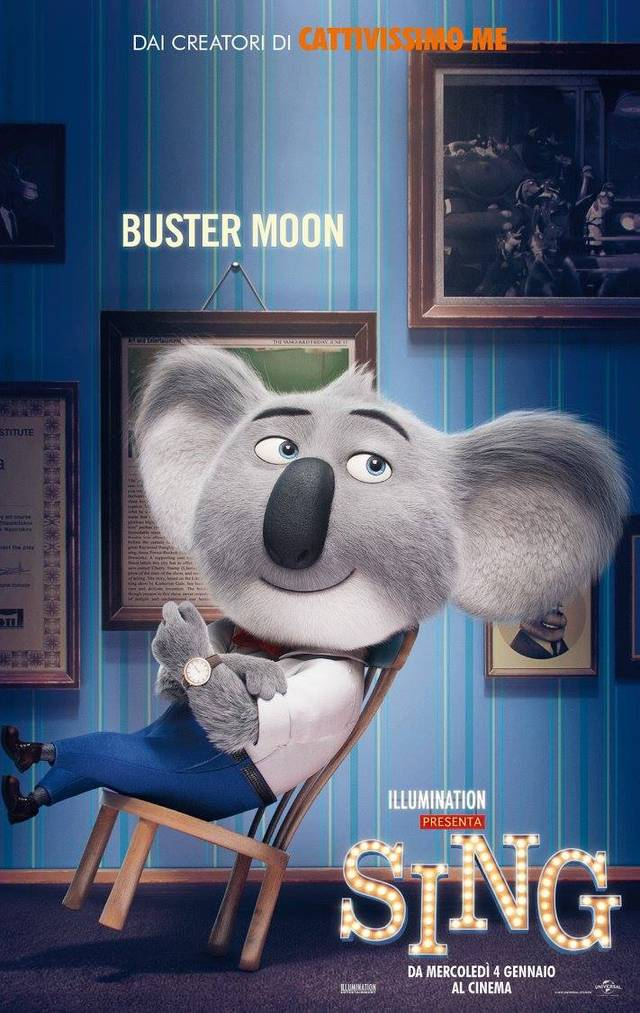 Il character poster di Buster