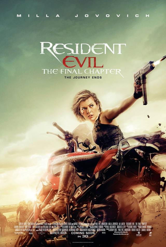 Alice in azione nel poster di Resident Evil: The Final Chapter
