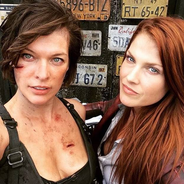 Resident Evil - The Final Chapter Milla Jovovich Ali Larter foto dal set 1