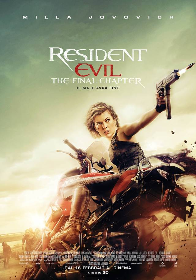 Resident Evil The Final Chapter Poster Italia