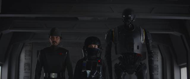 Rogue One - A Star Wars Story Felicity Jones Diego Luna foto dal film 2