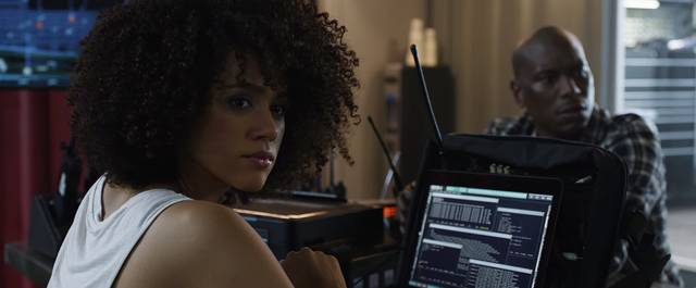 Fast & Furious 8 Nathalie Emmanuel Tyrese Darnell Gibson foto dal film 10