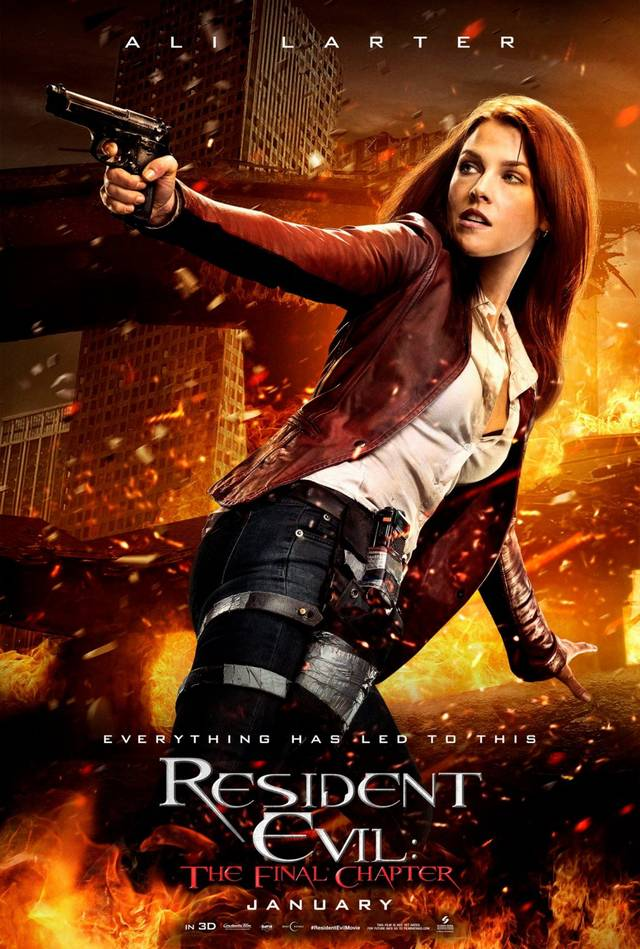 Resident Evil The Final Chapter Teaser Character Poster USA 1