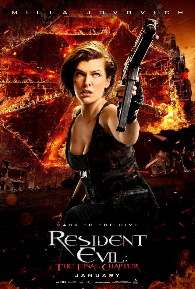 Resident Evil The Final Chapter Teaser Character Poster USA 3