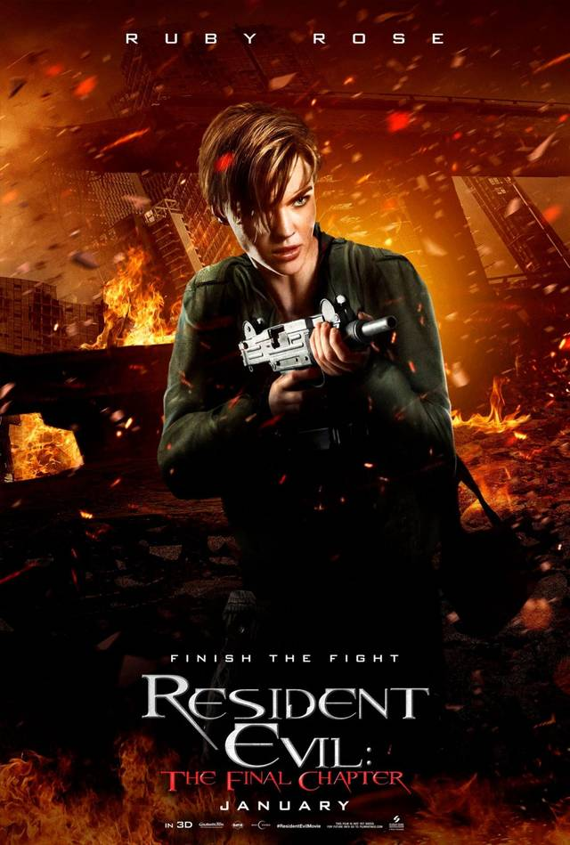 Resident Evil The Final Chapter Teaser Character Poster USA 4