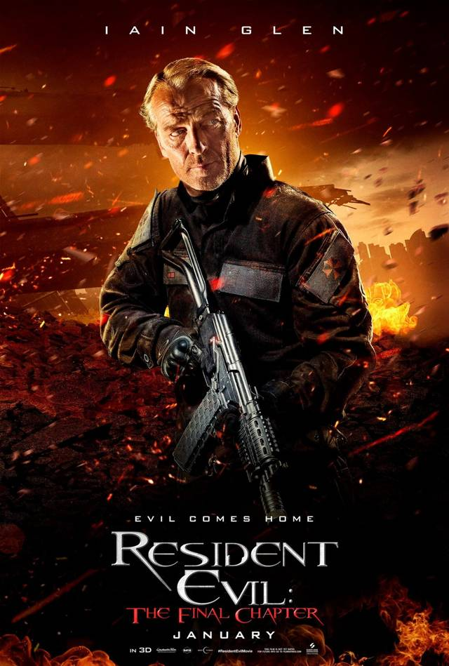 Resident Evil The Final Chapter Teaser Character Poster USA 5