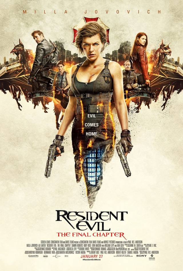 Il poster finale di Resident Evil: The Final Chapter