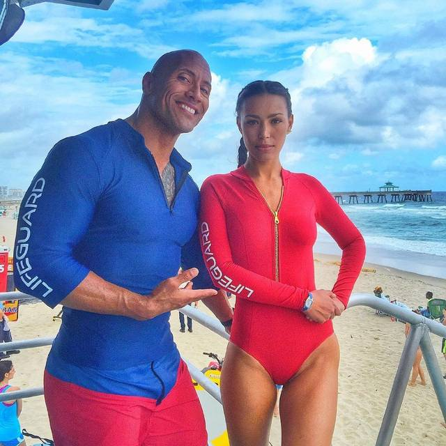Baywatch Dwayne Johnson Ilfenesh Hadera foto dal set 4