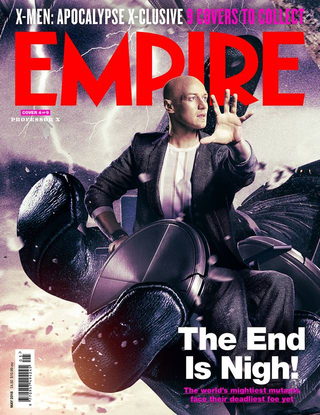X-Men Apocalisse James McAvoy Cover Empire