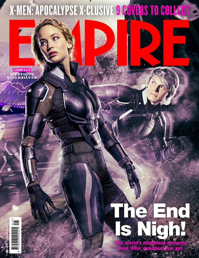 X-Men Apocalisse Jennifer Lawrence Evan Peters Cover Empire