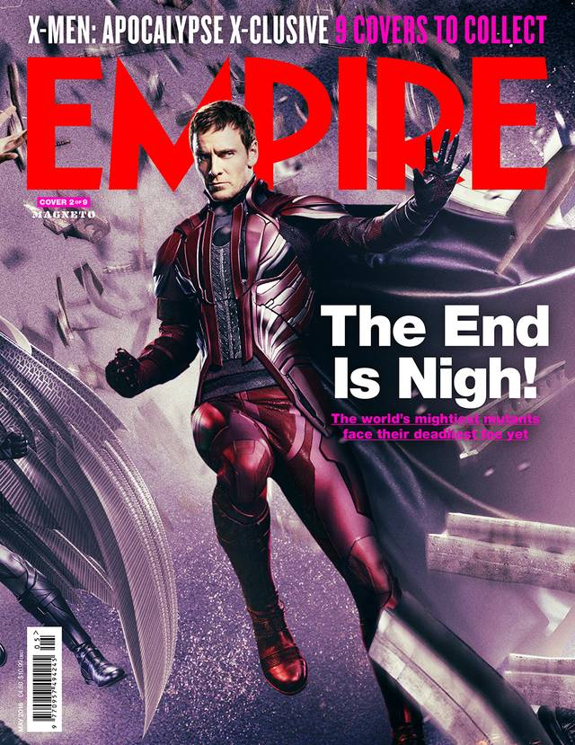 X-Men Apocalisse Michael Fassbender Cover Empire