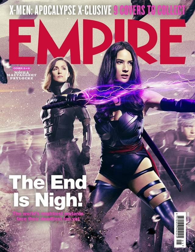 X-Men Apocalisse Rose Byrne Olivia Munn Cover Empire