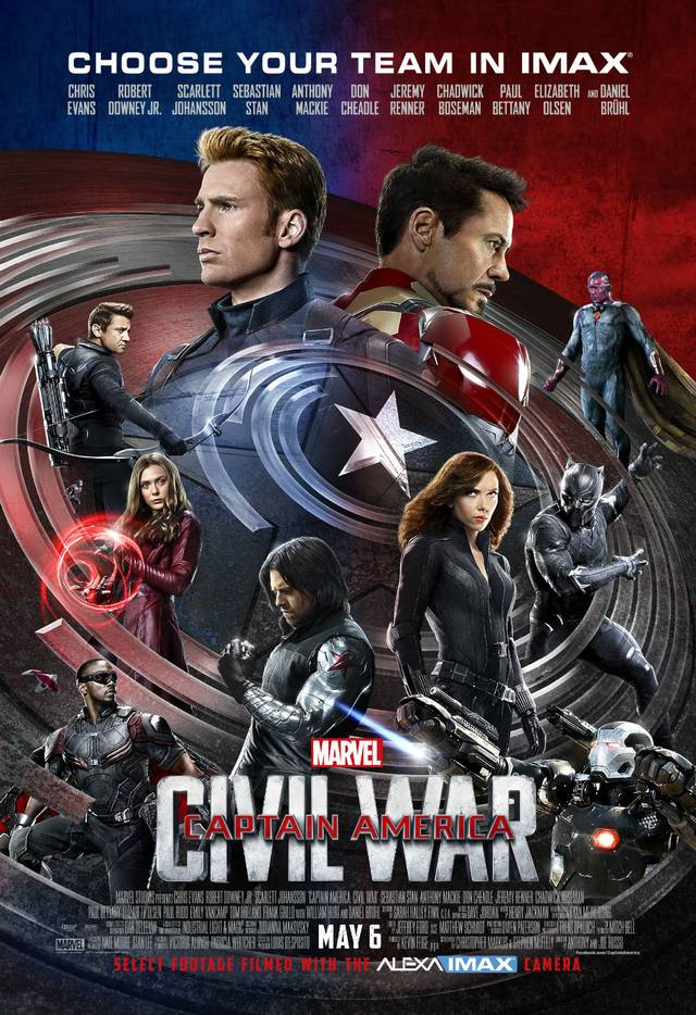 Il poster IMAX di Civil War