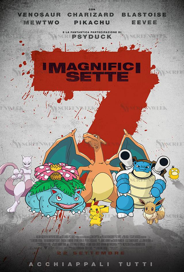 I Magnifici 7 - I PokePoster di ScreenWeek