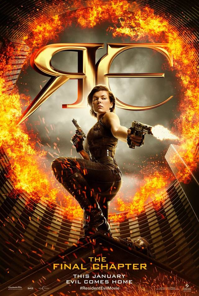 Alice nel primo poster di Resident Evil: The Final Chapter