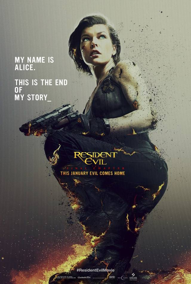Resident Evil The Final Chapter Teaser Poster USA