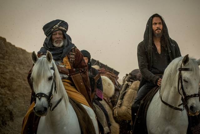 Ben-Hur Morgan Freeman Jack Huston foto dal film