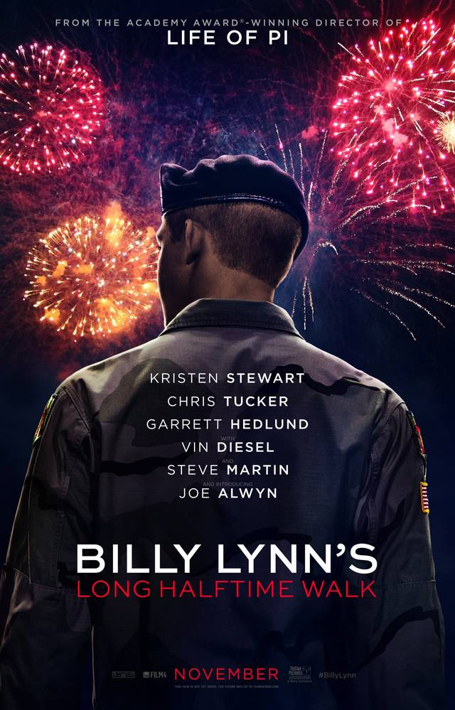 Billy Lynn's Long Halftime Walk Teaser Poster USA