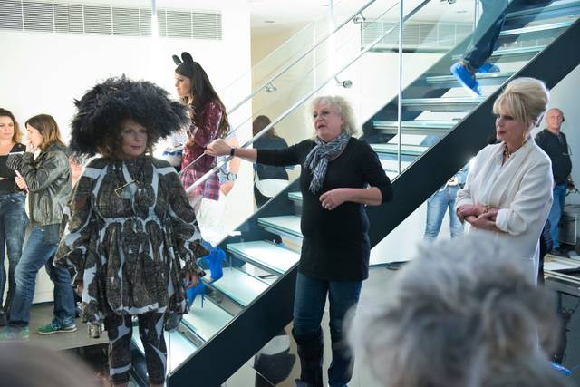 Absolutely Fabulous - The Movie Jennifer Saunders Joanna Lumley foto dal set 1