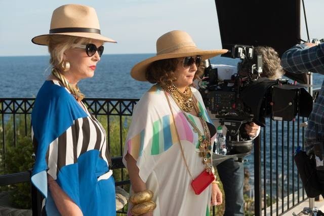 Absolutely Fabulous - The Movie Jennifer Saunders Joanna Lumley foto dal set 3