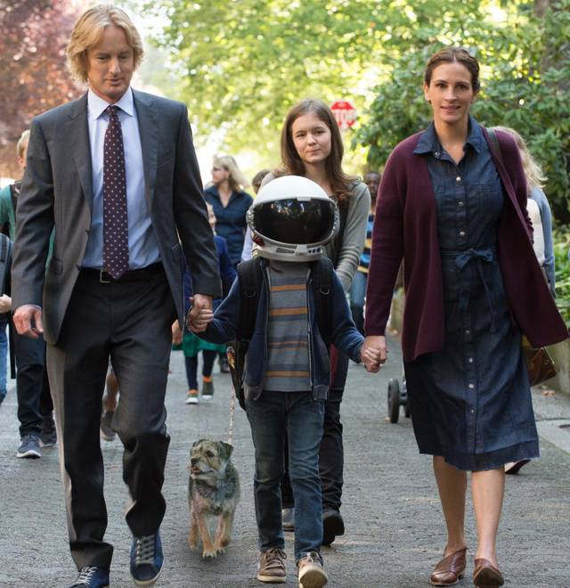 Wonder Julia Roberts Jacob Tremblay Owen Wilson Izabela Vidovic foto dal film 3
