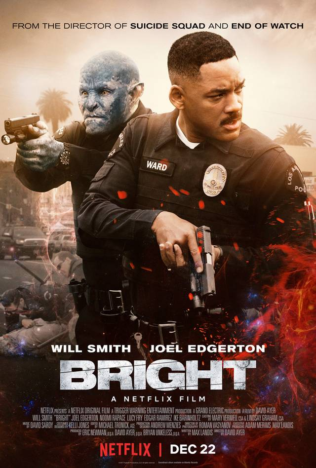 Joel Edgerton e Will Smith nel poster di Bright