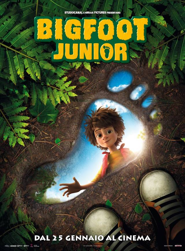 Bigfoot Junior - Teaser Poster Italiano Ufficiale
