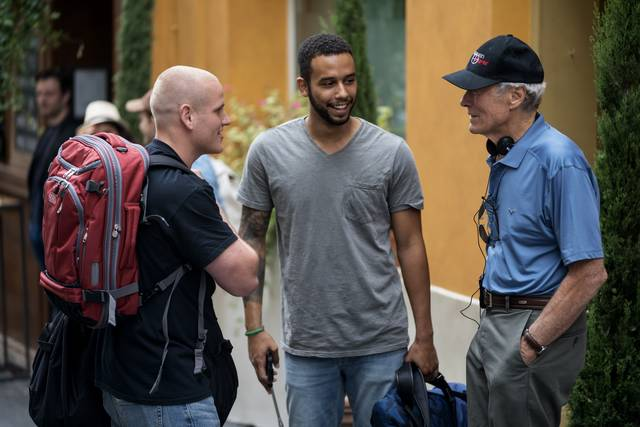 Ore 1517 – Attacco al treno Spencer Stone Anthony Sadler Clint Eastwood foto dal set del film