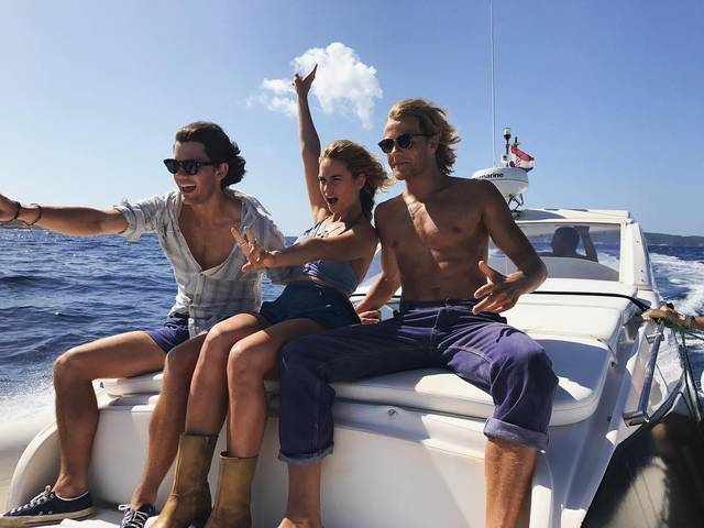 Mamma Mia - Here We Go Again Jeremy Irvine Lily James Josh Dylan foto dal set 4