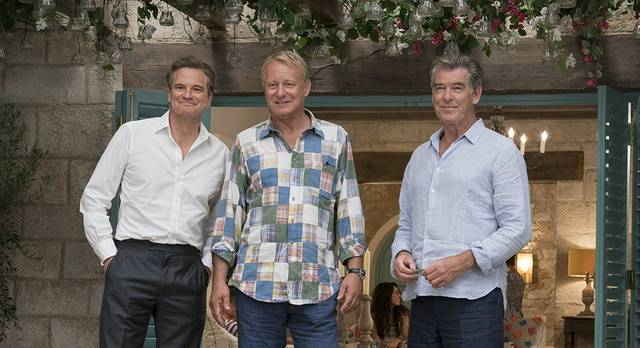 Mamma Mia - Here We Go Again Pierce Brosnan Colin Firth Stellan Skarsgård foto dal film 1