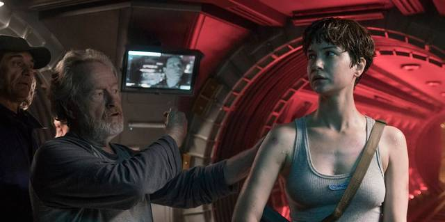 Alien Covenant Ridley Scott Katherine Waterston foto dal set 3