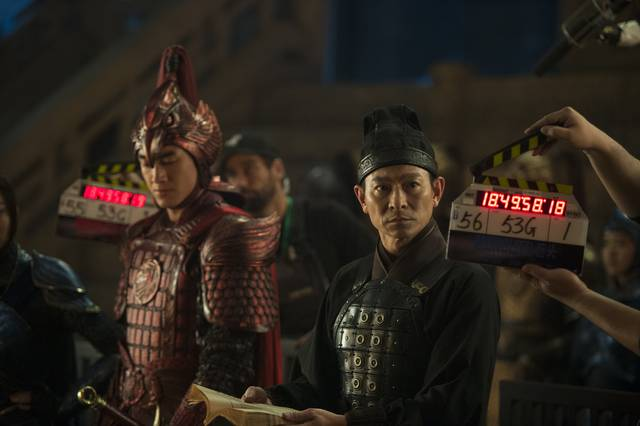 The Great Wall Kenny Lin Andy Lau foto dal set