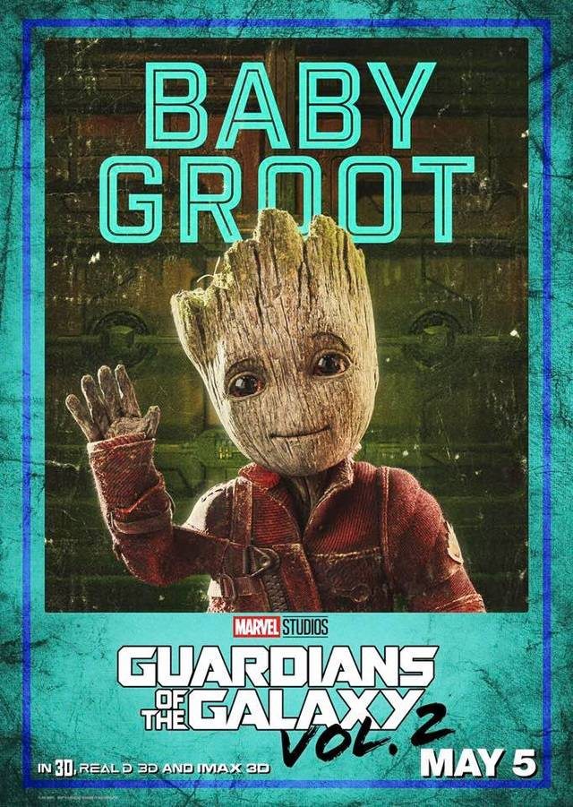 Il character poster di Groot