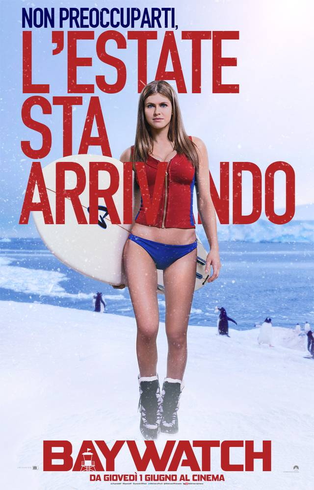 Baywatch Teaser Character Poster Italia 5