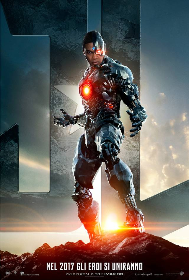 Justice League Cyborg Teaser Character Poster Italia 4