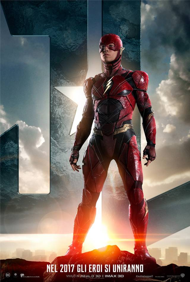 Justice League Flash Teaser Character Poster Italia 5