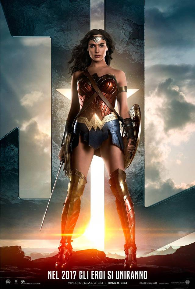 Justice League Teaser Wonder Woman Character Poster Italia 1