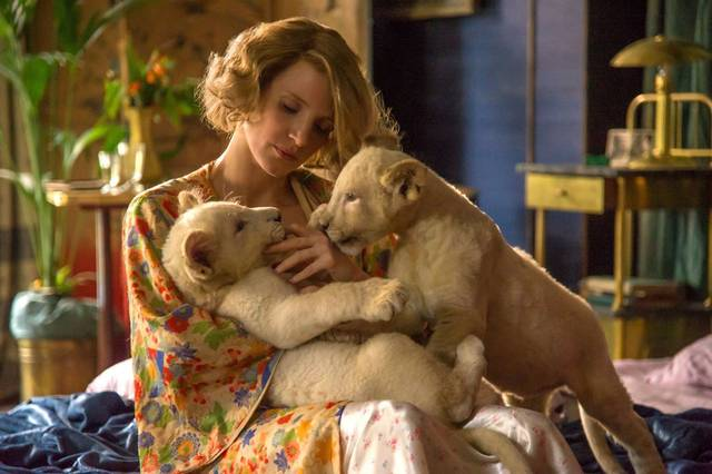 The Zookeeper's Wife Jessica Chastain foto dal film 1