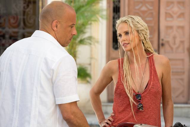 Fast & Furious 8_Charlize Theron Vin Diesel_foto dal film 4