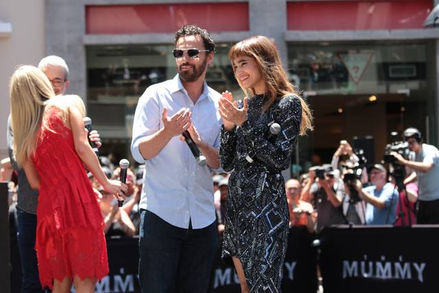 La Mummia Jake Johnson Annabelle Wallis Sofia Boutella Mummy Day Los Angeles foto 2