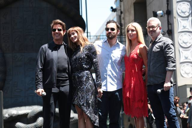 La Mummia Jake Johnson Tom Cruise Annabelle Wallis Sofia Boutella Alex Kurtzman Mummy Day Los Angeles foto 2