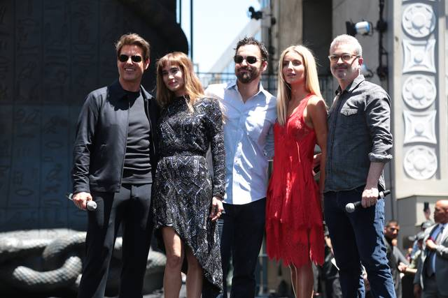 La Mummia Jake Johnson Tom Cruise Annabelle Wallis Sofia Boutella Alex Kurtzman Mummy Day Los Angeles foto 3
