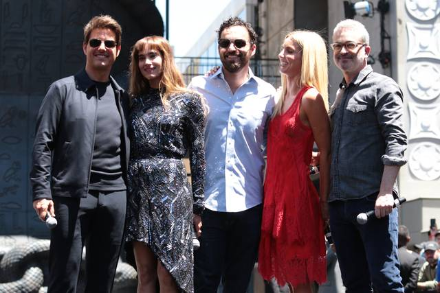 La Mummia Jake Johnson Tom Cruise Annabelle Wallis Sofia Boutella Alex Kurtzman Mummy Day Los Angeles foto 6