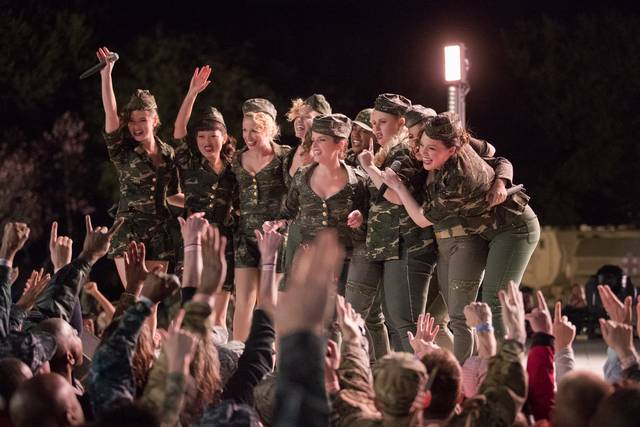 Pitch Perfect 3 Anna Kendrick Brittany Snow Rebel Wilson Anna Camp Hana Mae Lee Hailee Steinfeld Ester Dean Kelley Jakle Shelley Regner foto dal film 1