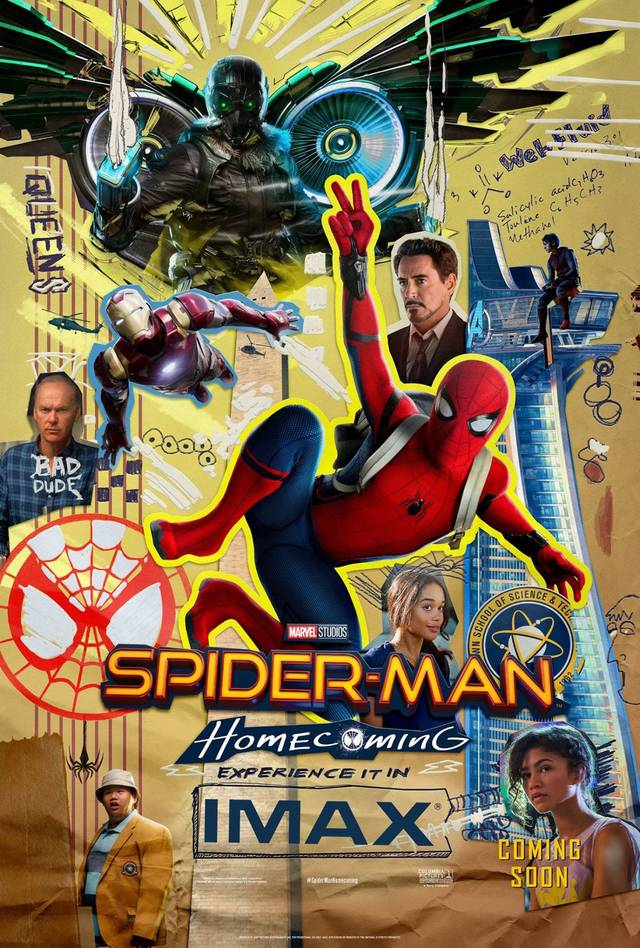 Il poster IMAX di Spider-Man: Homecoming